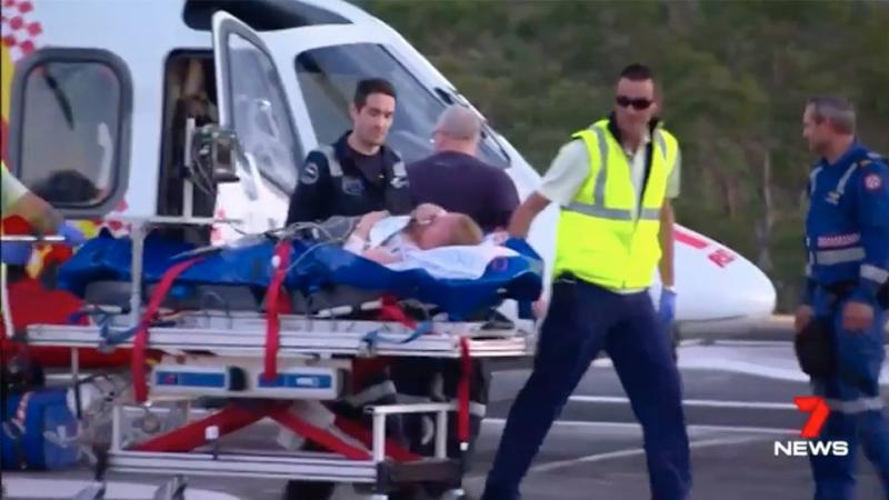 Natalie is now recovering in hospital. Source: 7 News