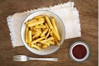 "<p>It's not just battered and fried bird that's tough on your ticker, though. High levels of potato consumption has been linked to increased risk for both <a href=""https://www.ncbi.nlm.nih.gov/pubmed/16469985"" rel=""nofollow noopener"" target=""_blank"" data-ylk=""slk:hypertension"" class=""link rapid-noclick-resp"">hypertension</a> and <a href=""https://www.ncbi.nlm.nih.gov/pubmed/27189229"" rel=""nofollow noopener"" target=""_blank"" data-ylk=""slk:type 2 diabetes"" class=""link rapid-noclick-resp"">type 2 diabetes</a> in scientific research. And frying the spuds delivers a one-two punch to your cardiac health.</p>"