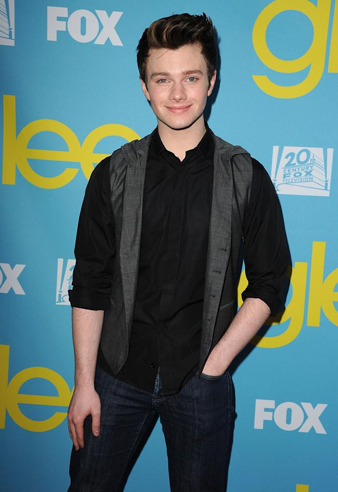 "Chris Colfer attends a special screening of ""<a target=""_blank"" href=""http://tv.yahoo.com/glee/show/44113"">Glee</a>""  hosted by The Academy of Television Arts & Sciences at Leonard H.  Goldenson Theatre on May 1, 2012 in North Hollywood, California."