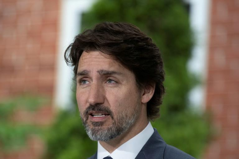 Canadian Prime Minister Justin Trudeau, pictured in June 2020, spoke with his Australian counterpart about online platform regulation