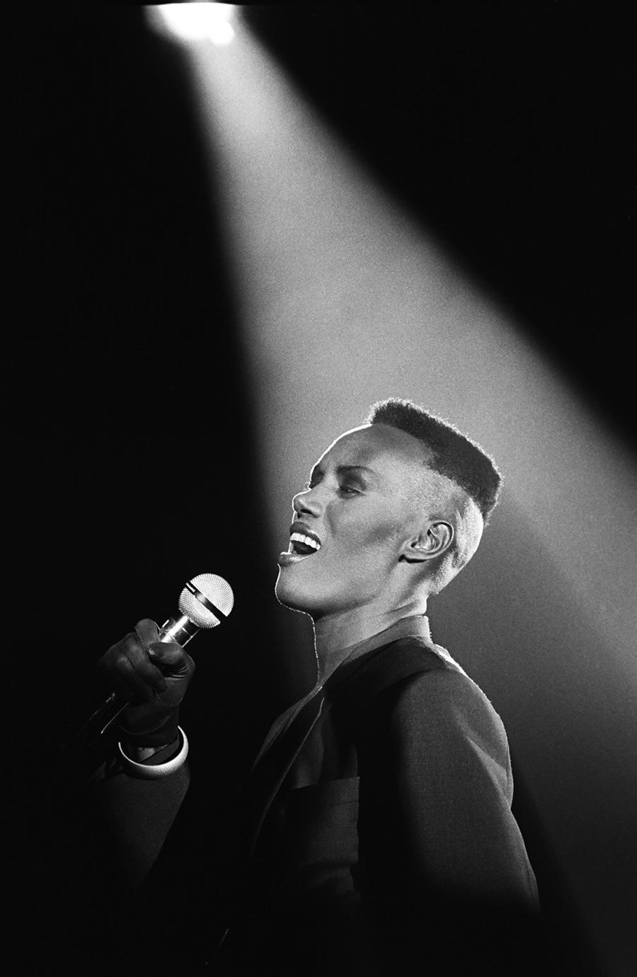 <p>Jamaican-born singer, fashion model, and actress Grace Jones had a high-top buzzcut that was so good it became her signature and inspired many others. (Photo: Getty Images) </p>