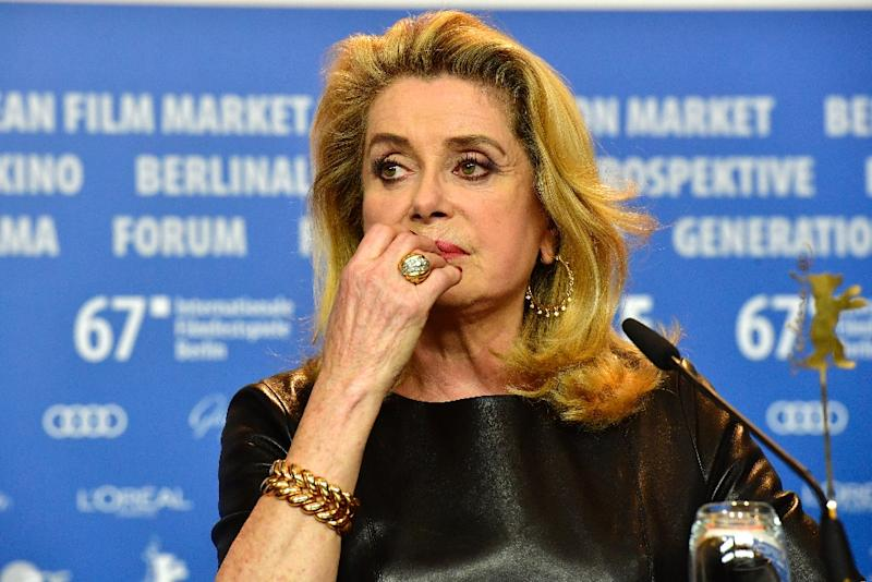 """Actress Catherine Deneuve is one of around 100 French women writers, performers and academics to say recent sexual harassment scandals have led to a """"witch-hunt"""""""
