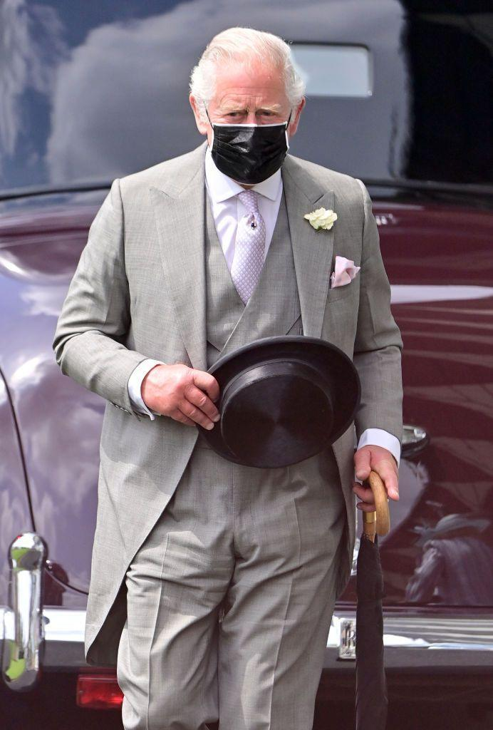 <p>Prince Charles brought out a collapsable top hat for Day One. </p>