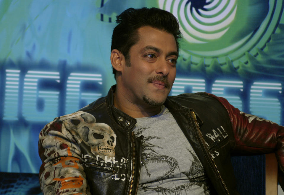 MUMBAI, INDIA - AUGUST 03 : Salman Khan attends the press conference of tv reality show Bigg Boss on August 03, 2010 in Mumbai, India (Photo by Prodip Guha/Getty Images)