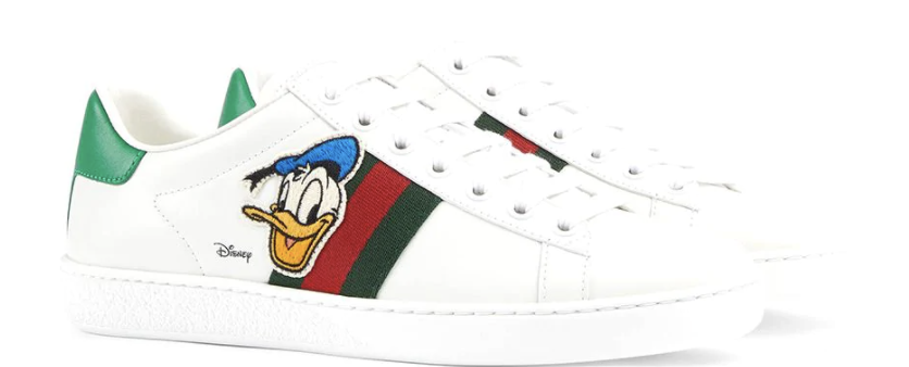 Gucci X Disney Ace Donald Duck sneakers