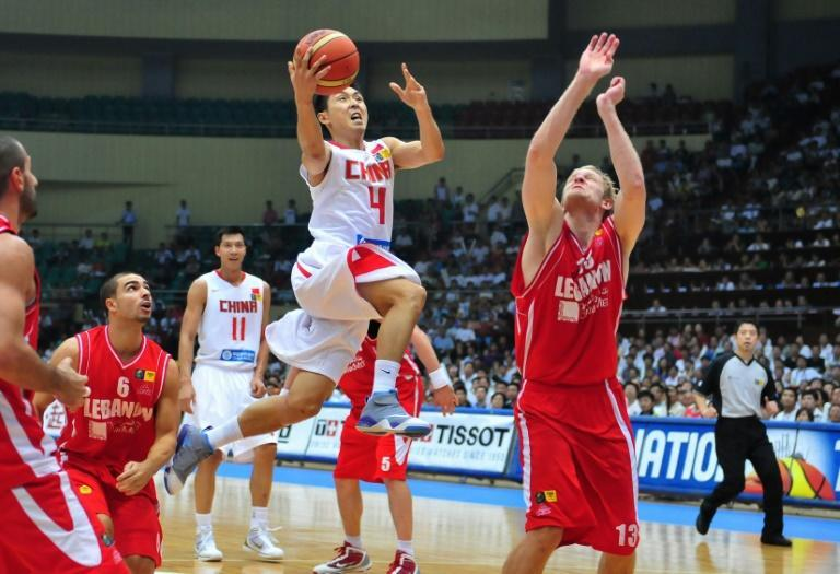 Lebanon's team competed against China in a semi-final match in the Asian Basketball Championships in Tianjin, northern China in 2009