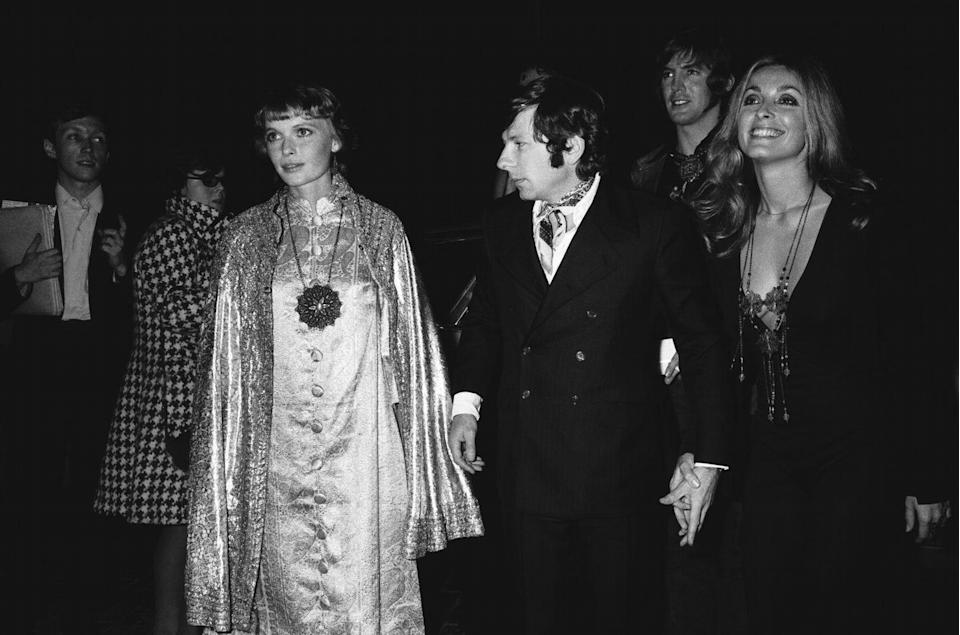 <p>Mia Farrow and Sharon Tate arrive at the premiere of Farrow's film <em>Rosemary's Baby</em> in 1968. Screen legend Robert Redford was nearly cast as Rosemary's husband, but contractual obligations forced him to decline the project. The role eventually went to John Cassavetes.</p>