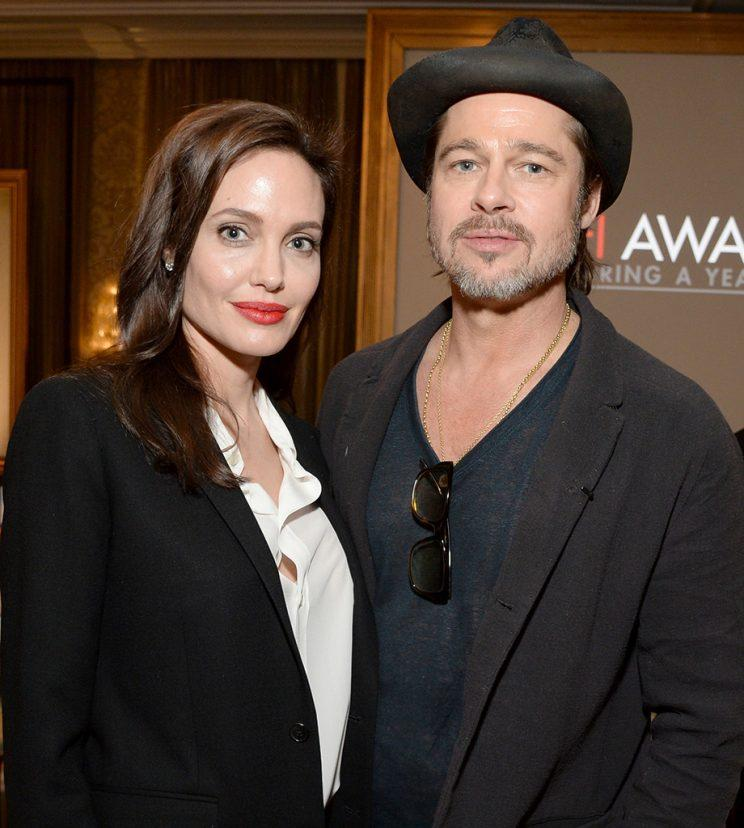 Angelina Jolie and Brad Pitt pictured in happier times. (Photo: Michael Kovac/Getty Images for AFI)