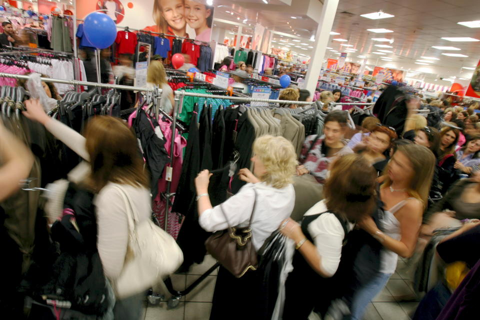 (AUSTRALIA OUT) Shoppers crowd the Stella McCarthey area at Target store in Chadstone. THE AGE. Photo by ANDREW DE LA RUE (Photo by Fairfax Media via Getty Images via Getty Images)