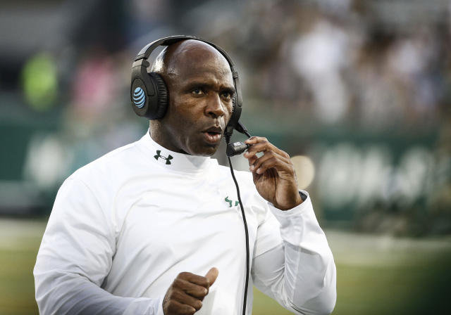 Charlie Strong's South Florida Bulls have been on a tear early this college football season. (AP)