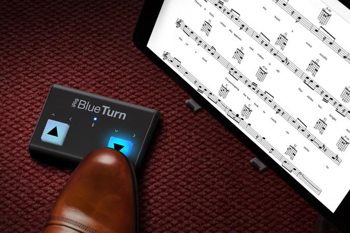 Turn your music pages by foot.