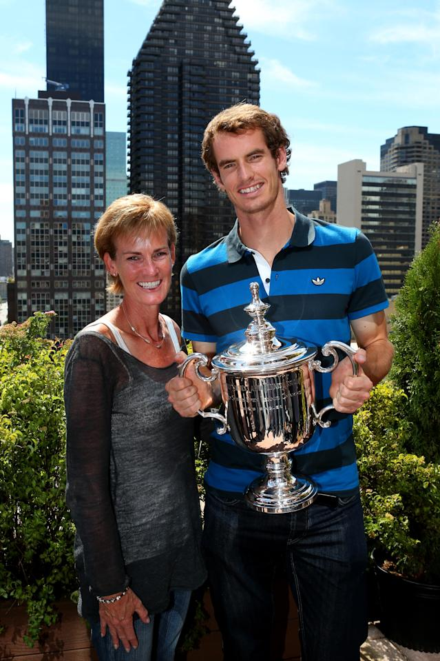 <p>Family ties: Murray and his mother Judy celebrate his US Open win. (Getty Images) </p>
