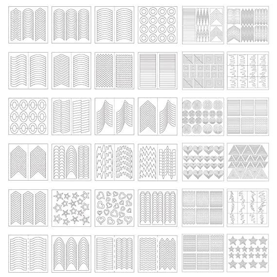 <p>Drawing on a french tip - or any design, for that matter - free-hand isn't easy but using a stencil, like the <span>eBoot 1275 Pieces 49 Designs Nail Art Stencils</span> ($6), makes it a breeze.</p>