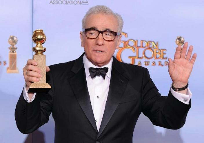 """Martin Scorsese -- up for Golden Globes glory for """"The Irishman"""" -- has previously won for """"Gangs of New York"""" (in 2003), """"The Departed"""" (2007) and """"Hugo"""" (2012) (AFP Photo/ROBYN BECK)"""