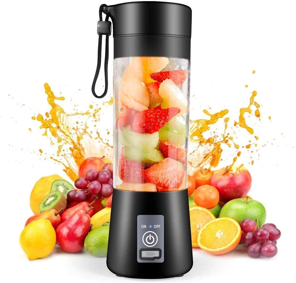 <p>Whether you have an on-the-go lifestyle or love being active, the <span>Gracejoful Portable Blender</span> ($20) is a find you'll be using all the time. It's rechargeable via USB so you can charge it up right in your car!</p>