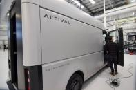 FILE PHOTO: A fully electric test van by British bus maker Arrival Ltd, due to start production in 2022