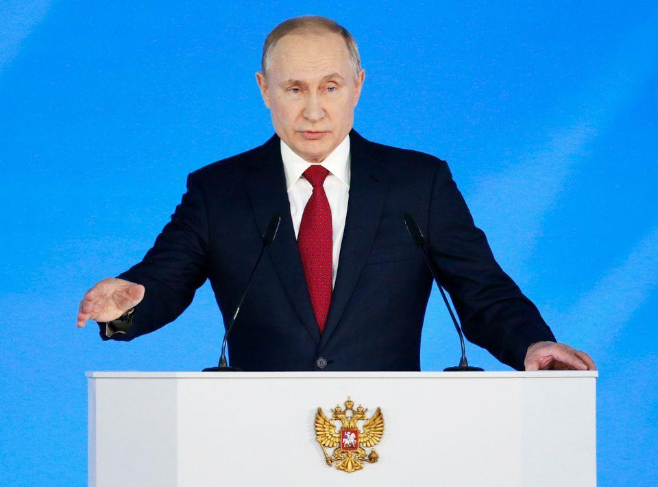 Russian President Vladimir Putin during his state of the nation address