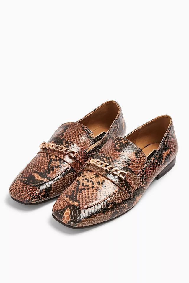 """<p>These <a href=""""https://www.popsugar.com/buy/Topshop-Lorenzo-Snake-Square-Toe-Loafers-483832?p_name=Topshop%20Lorenzo%20Snake%20Square-Toe%20Loafers&retailer=us.topshop.com&pid=483832&price=55&evar1=fab%3Aus&evar9=45724169&evar98=https%3A%2F%2Fwww.popsugar.com%2Fphoto-gallery%2F45724169%2Fimage%2F46542487%2FTopshop-Lorenzo-Snake-Square-Toe-Loafers&list1=shopping%2Cshoes%2Cflats%2Cloafers%2Cwinter%20fashion&prop13=api&pdata=1"""" rel=""""nofollow"""" data-shoppable-link=""""1"""" target=""""_blank"""" class=""""ga-track"""" data-ga-category=""""Related"""" data-ga-label=""""https://us.topshop.com/en/tsus/product/lorenzo-sqaure-toe-loafer-8995204"""" data-ga-action=""""In-Line Links"""">Topshop Lorenzo Snake Square-Toe Loafers</a> ($55) are perfect for the office.</p>"""