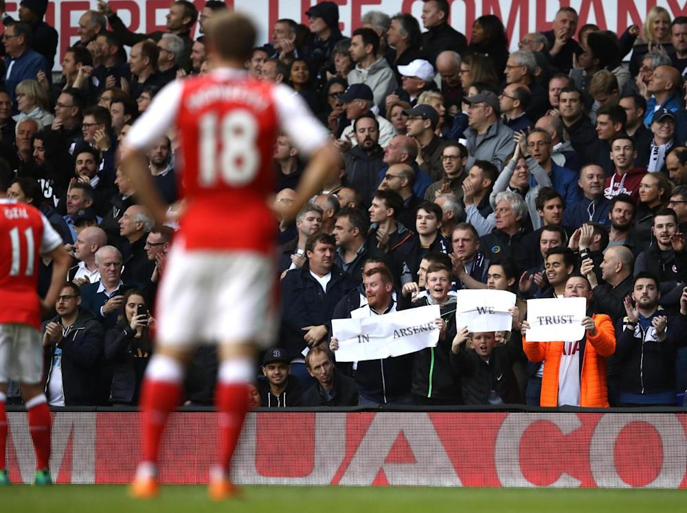 Spurs supporters revel in their victory (Getty)