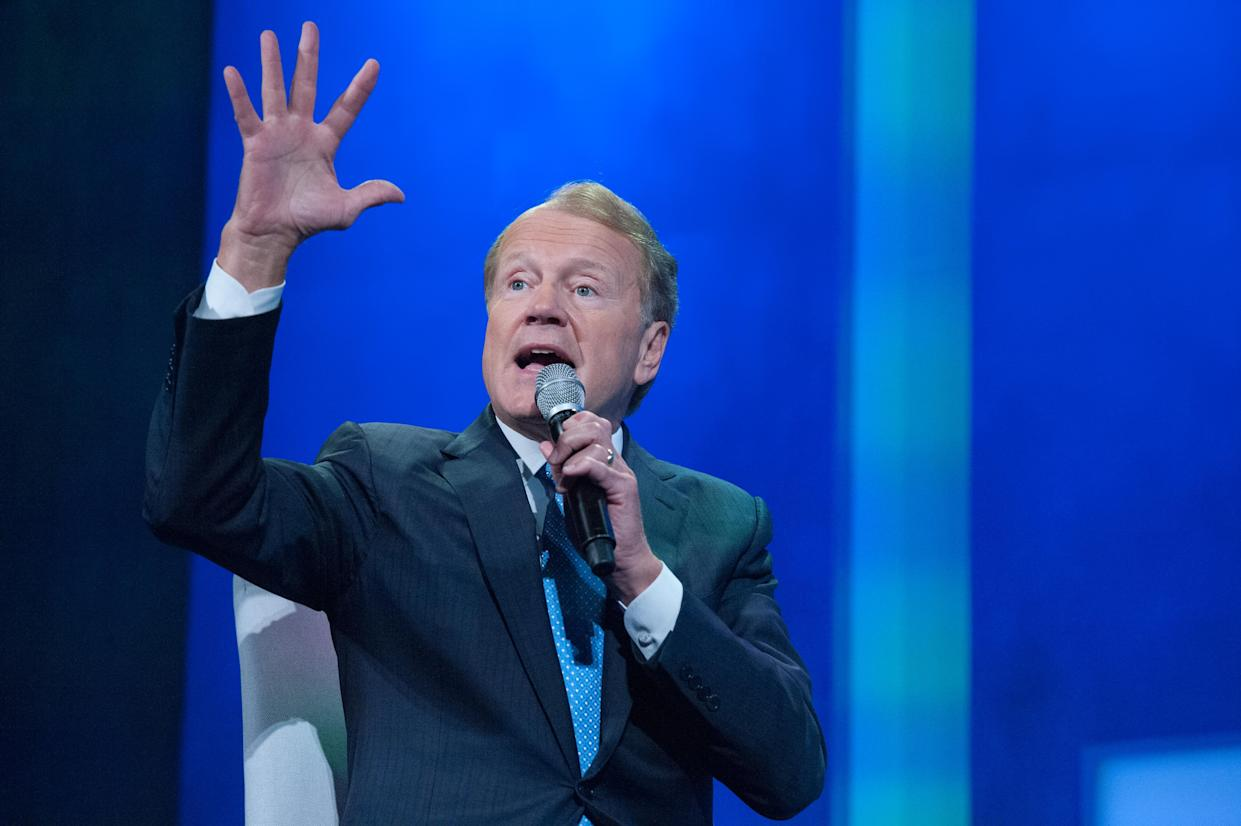 NEW YORK, NY - SEPTEMBER 20, 2016 : John Chambers, Executive Chairman, Cisco participates in a panel discussion during the annual Clinton Global Initiative on September 20, 2016 in New York City. Since 2005, the CGI has coincided with the opening of the UN General Assembly, bringing together political and business leaders to help promote philanthropy on a global scale. (Photo by Stephanie Keith/Getty Images)