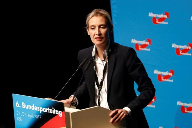 "Alice Weidel said it was a ""scandal"" that ""Christian holidays have to be protected by police with machine guns."""