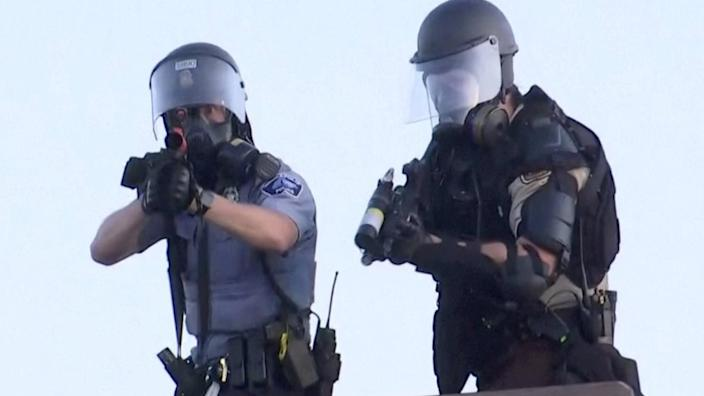 Reuters said police appeared to fire directly at their cameraman as he filmed them