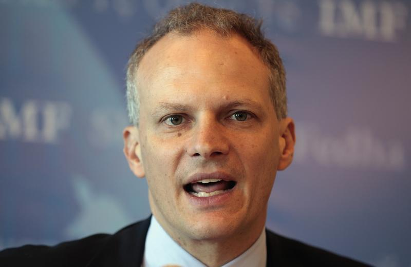 Director of the Western Hemisphere Department of the International Monetary Fund Alejandro Werner speaks during an IMF news conference in Montevideo