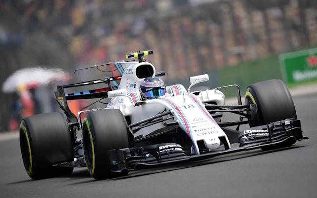 Williams' Canadian driver Lance Stroll drives his car during the third practice session of the Formula One Chinese Grand Prix in Shanghai on April 8, 2017 (AFP Photo/Johannes EISELE)