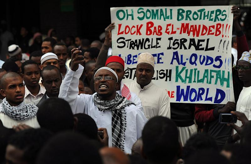 Members of the Somali community in Kenya take part in a public forum on July 25, 2014 to air their grievances at being portrayed as dangerous in social media and other forums (AFP Photo/Tony Karumba)