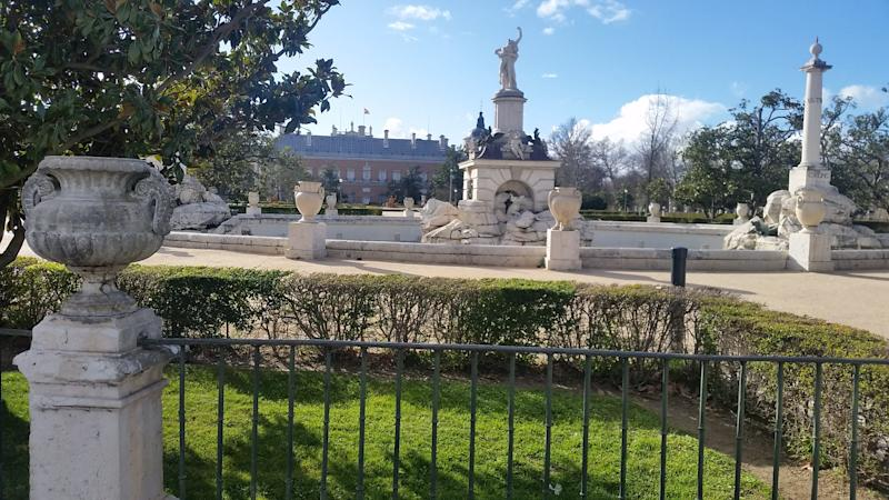 A view from the garden of the palace at Aranjuez.