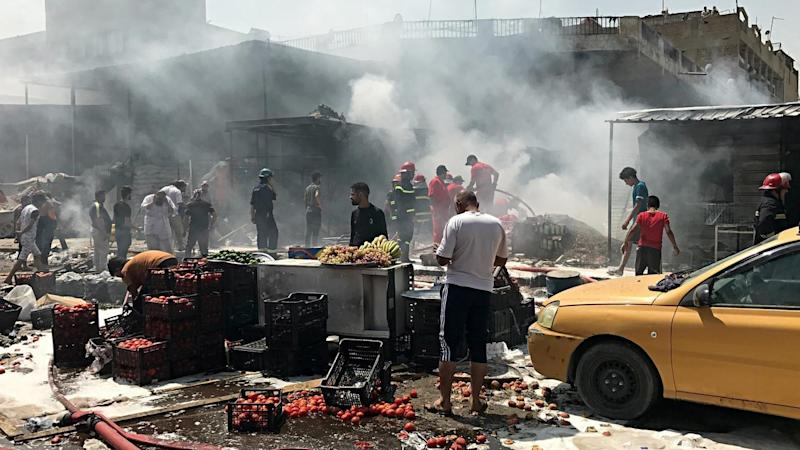 A a car bomb has exploded in the wholesale Jamila market in Baghdad's Shiite district of Sadr City.