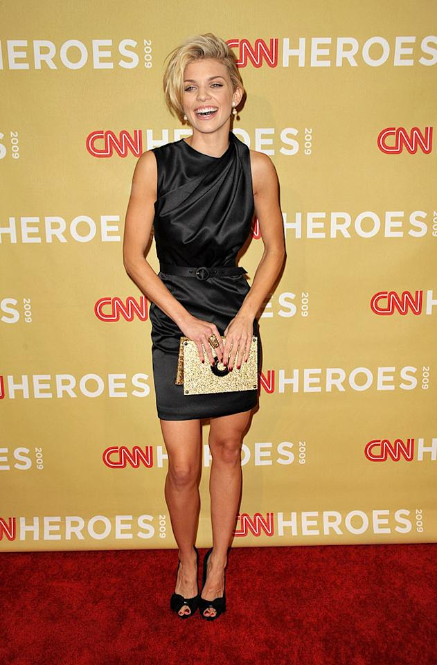 """""""90210's"""" AnnaLynne McCord accentuated her tiny waist in a belted black frock. John Shearer/<a href=""""http://www.wireimage.com"""" target=""""new"""">WireImage.com</a> - November 21, 2009"""