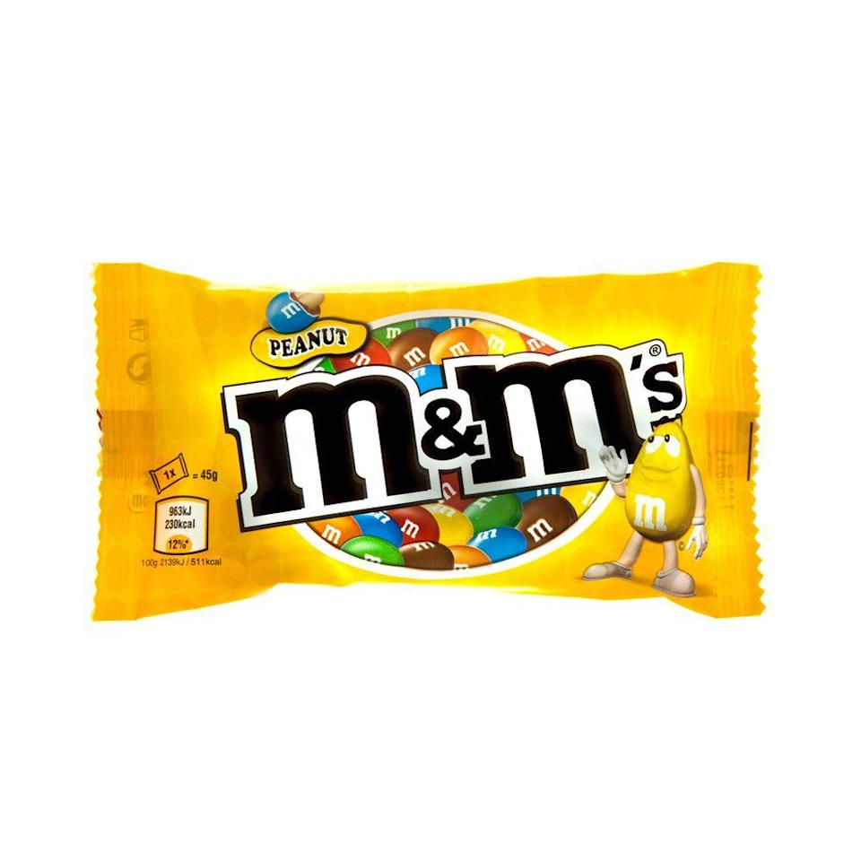 <p>M&Ms were the go-to candy back in 1948 after they had been used as rations during World War II. But by 1955, the newest hit was peanut—and for good reason, right?</p>