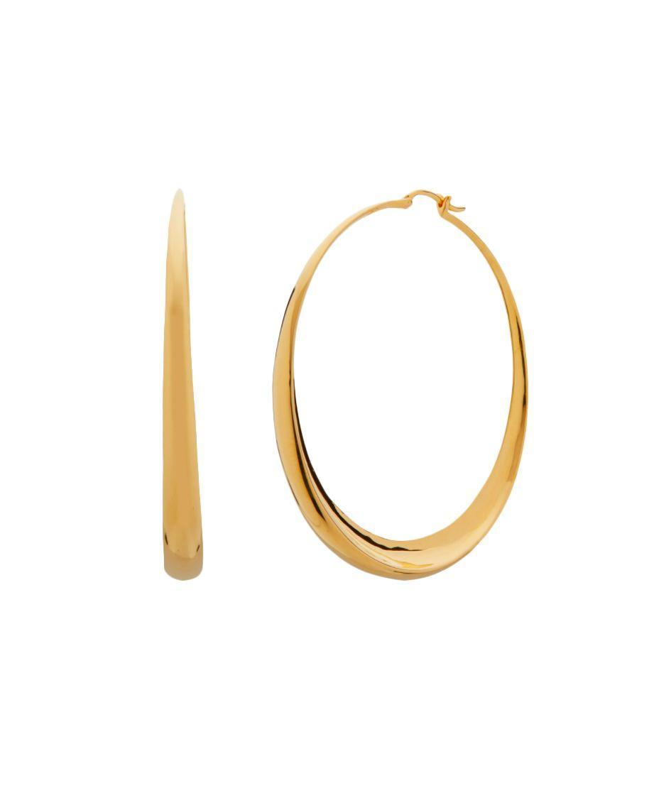 """<p>Monica Vinader Deia Chamfered Hoops – £225.00</p><p><a class=""""link rapid-noclick-resp"""" href=""""https://go.redirectingat.com?id=127X1599956&url=https%3A%2F%2Fwww.monicavinader.com%2Fdeia-chamfered-hoops%2Fgold-vermeil-deia-chamfered-hoops&sref=https%3A%2F%2Fwww.elle.com%2Fuk%2Ffashion%2Fwhat-to-wear%2Farticles%2Fg31862%2Fthe-10-items-you-need-in-your-capsule-holiday-wardrobe%2F"""" rel=""""nofollow noopener"""" target=""""_blank"""" data-ylk=""""slk:SHOP NOW"""">SHOP NOW</a></p><p>If you only take one thing on holiday, make it a pair of statement earrings. The warm gold tones, hammered texture and chamfered shape on these Monica Vinader hoops give them a whole new kind of versatility. When you're making a quick change for dinner post-swim, tie wet hair back into a low bun to draw attention to them.</p>"""