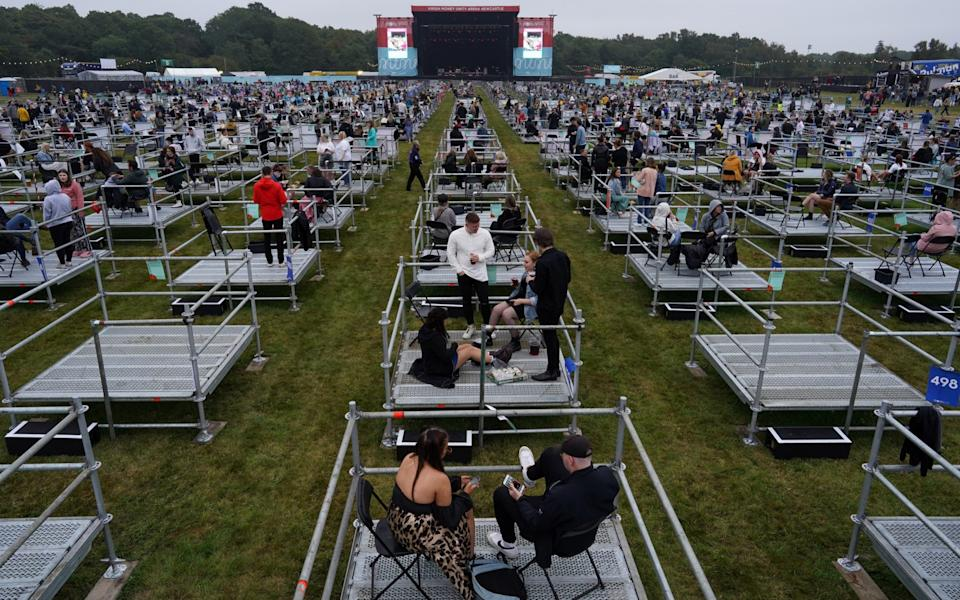 A unique experience: fans were confined to metal platforms - Ian Forsyth/Getty