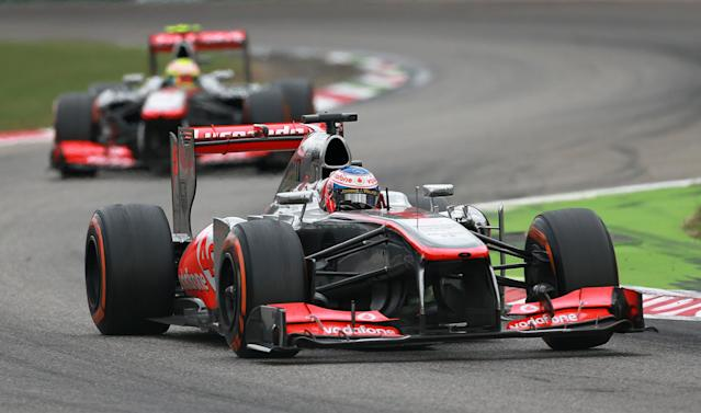 McLaren Mercedes' Jenson Button during the Italian Grand Prix and the Autodromo Nazionale Monza, Monza, Italy.