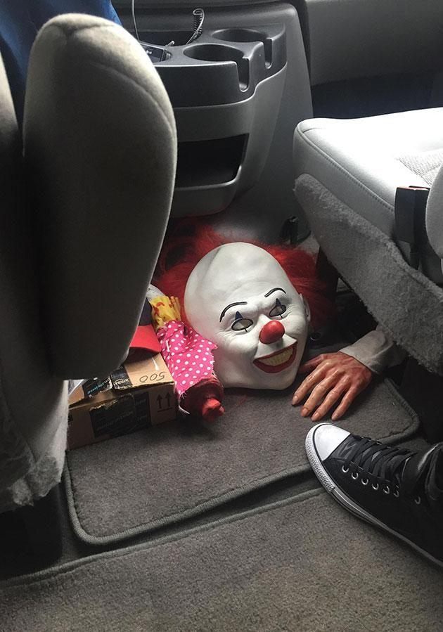 Nothing will freak you out quicker than getting into a car and seeing this. Source: Supplied
