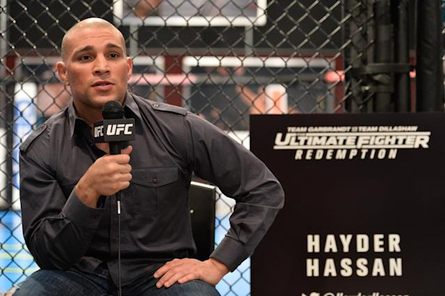 """Hayder Hassan is a member of the the """"Redemption"""" season of """"The Ultimate Fighter."""" (Getty Images)"""