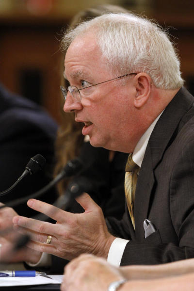 John Eastman, chairman of the National Organization for Marriage, testifies on Capitol Hill in Washington, Tuesday, June 4, 2013, before the House Ways and Means Committee hearing of organizations that say they were unfairly targeted by the Internal Revenue Service while seeking tax-exempt status. (AP Photo/Jacquelyn Martin)