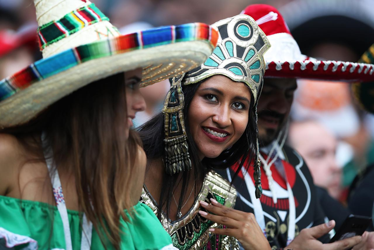 <p>Mexico fans at the Luzhniki Stadium before their surprise win over Germany. (Photo by Ian MacNicol/Getty Images) </p>
