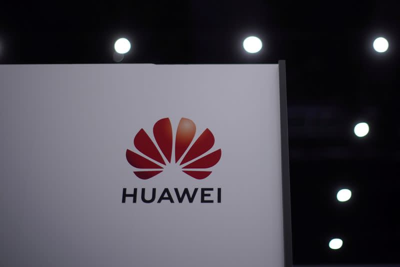 FILE PHOTO: The Huawei logo is seen at Huawei Connect in Shanghai