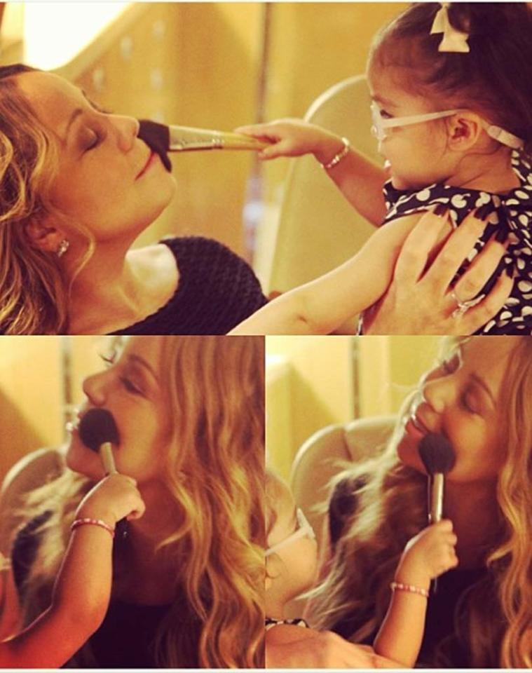 "<p class=""MsoNormal"">The 42-year-old diva has been teaching Monroe the tricks of the trade. Mariah posted this pic of her little girl giving her mommy a makeover on her Instagram account with the caption, ""Beauty school hour 01 lol."" Hey – you gotta learn sometime, right? (1/11/13)</p>"