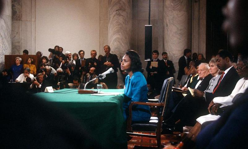 Anita Hill testifies, 1991.