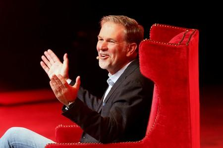 Reed Hastings, co-founder and CEO of Netflix, gestures during an event of the Fundacion Telmex Mexico Siglo XXI (Telmex Foundation Mexico XXI Century) in Mexico City
