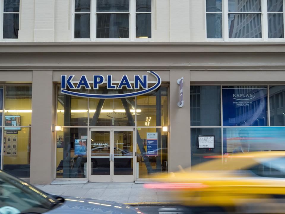 SAN FRANCISCO, CA - MARCH 30, 2018: Kaplan Test Prep entrance to a branch location in downtown San Francisco.