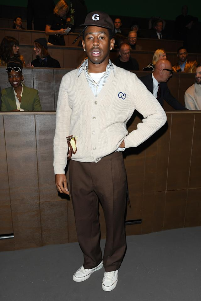 <p>WHAT: Gucci</p> <p>WHERE: The Gucci show during Milan Fashion Week</p> <p>WHEN: January 14, 2020</p> <p>WHY: Lots of Fred Rogers and a dash of Tony Soprano—but mostly Tyler, The Creator.</p>