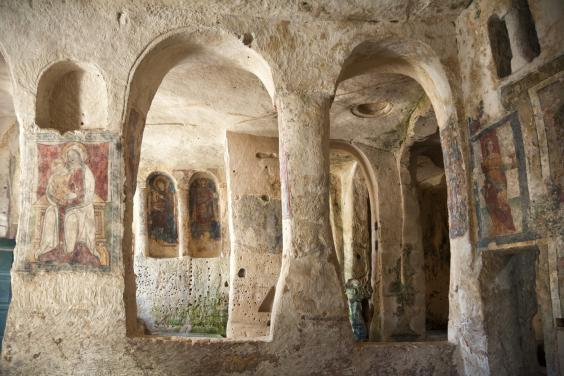 Matera is home to numerous sassi, cave dwellings carved out of limestone (Getty Images/iStockphoto)