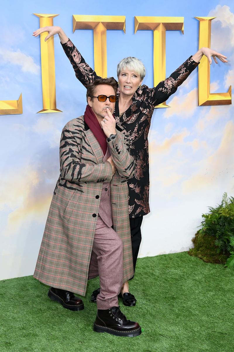 Emma Thompson and Robert Downey Jr attend the