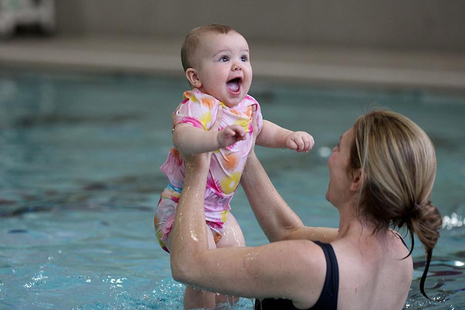 The technique is different to typical swimming lessons. (Getty Images)