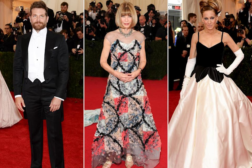 <p><strong>The theme: </strong>Charles James: Beyond Fashion </p> <p><strong>The co-chairs: </strong>Bradley Cooper, Anna Wintour, Sarah Jessica Parter, Oscar de la Renta and Lizzie and Jonathan Tisch</p>